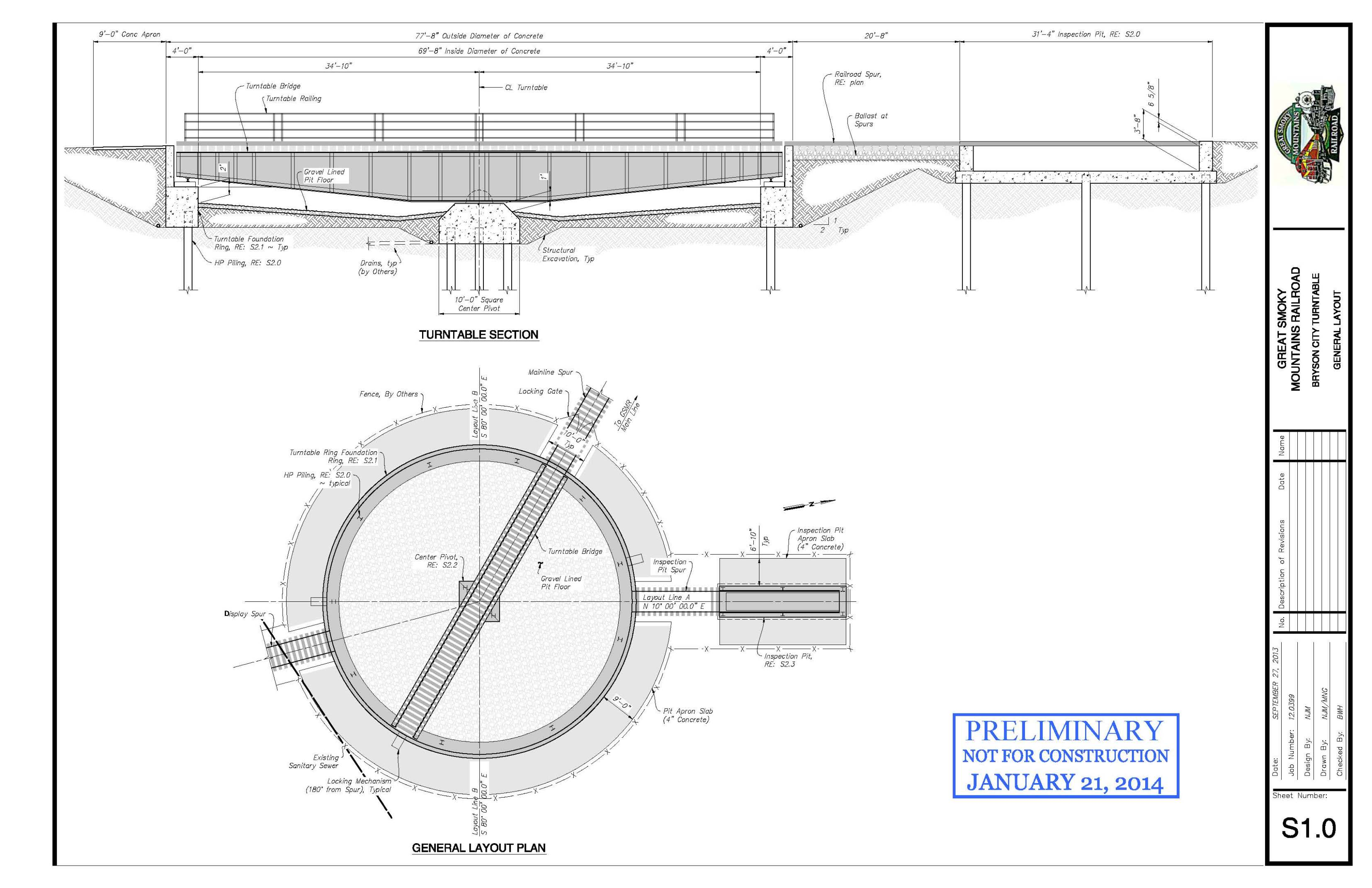 Bryson City Visual Plan for Turntable Installation